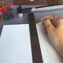 dibujamos las letras sobre la tabla