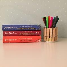 manualidades con niños: porta lápices hecho con pinzas de madera