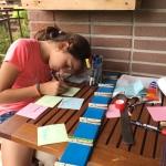10. calendario semanal de madera para pared - hacemos las notas