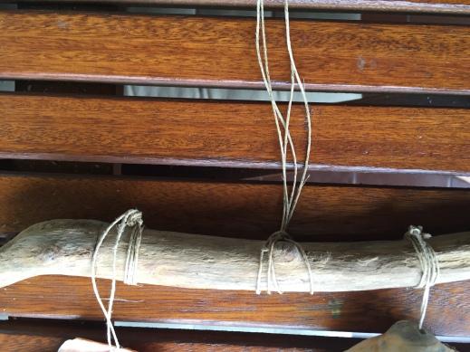 campanas de viento - cococamos cuerda central para atar al techo