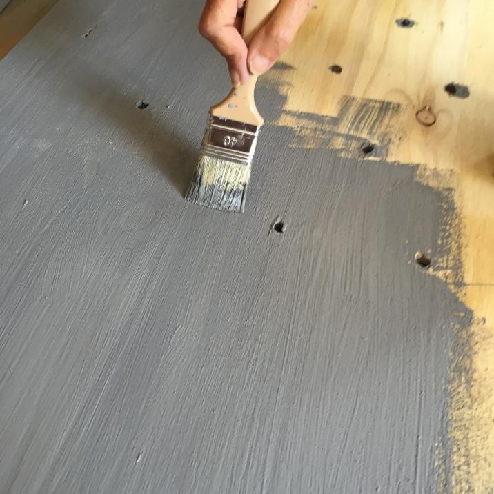 pintamos el tabón con chalk paint