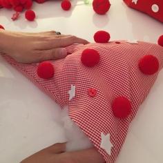 es importante repartir bien el algodón en el interior del arbol