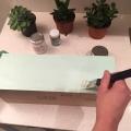 02. DIY_caja_madera_vino_decaàda_cpnvertida_maceta_ primera_capa_pintura_menta