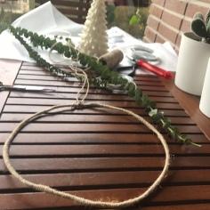 5.corona de navidad cuerda